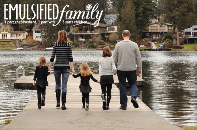 Emulsified Family walking on dock