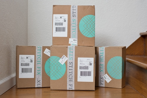 Stitch Fix boxes - it's like Christmas