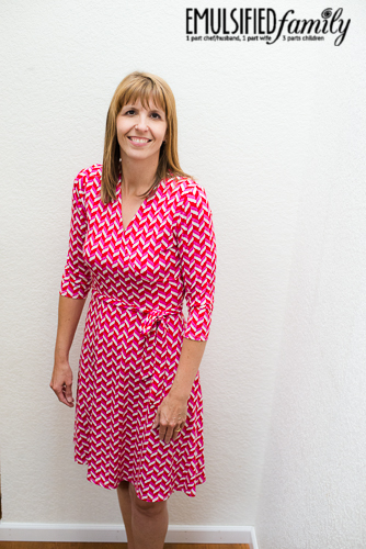Stitch Fix wrap dress - love the pattern and fit of this - Emulsified Family
