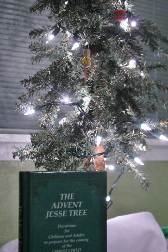 Our Advent Jesse Tree devotional book that we've been reading through each day this month