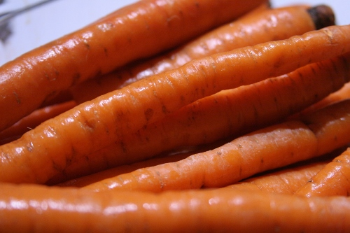 Got a call midday asking if we wanted to come early to the party tonight and enjoy dinner with them!  Ummm . . . yes!  So I roasted some carrots to bring.