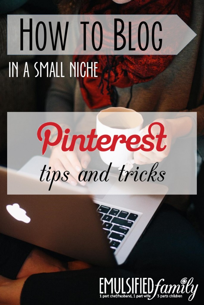 How to Blog in a small niche - pinterest