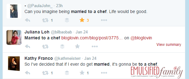 I want to marry a chef