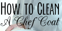 how to clean a chef coat sidebar