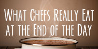what chefs really eat at the end of the day sidebar