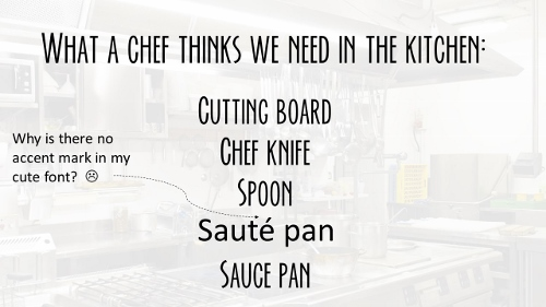 what a chef needs in the kitchen 5