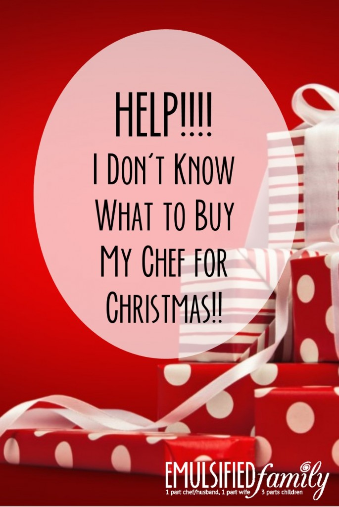 i dont know what to buy my chef for christmas